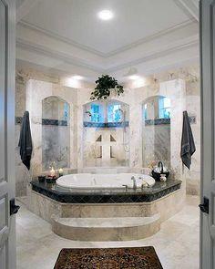 48 Awesome Shower Room Design Ideas To Make Fun Bathing Luxury Shower, Luxury Bath, Dream Bathrooms, Beautiful Bathrooms, Mansion Bathrooms, Built In Buffet, Dream Shower, Luxury House Plans, Master Bathroom