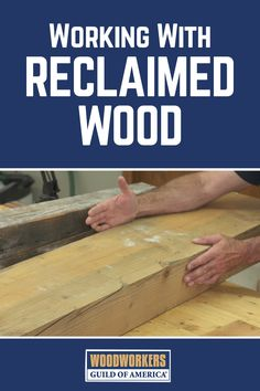 "Upcycling is all the rage today, and you may have wondered, ""What is reclaimed wood?"" Reclaimed wood has lots of features that make it worth bringing into your shop; its history, the wood's character, and availability of species you may not be able to get otherwise."