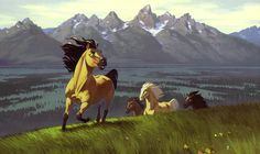 Dreamworks Animation ★ Spirit Stallion of the Cimarron ~ concept art . Spirit The Horse, Spirit And Rain, Spirit Animal, Disney Animation, Animation Film, Horse Animation, Dreamworks Animation, Spirit Der Wilde Mustang, Horse Movies