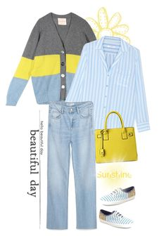 """""""Sunshine & Stripes"""" by musicfriend1 on Polyvore featuring Erika Cavallini Semi-Couture, Equipment, Zara and Keds"""