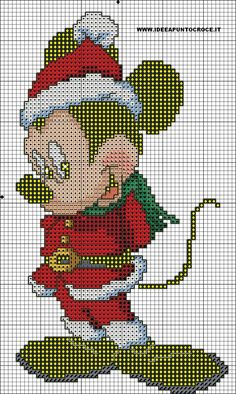 michey mouse cross stitch by syra1974 on DeviantArt