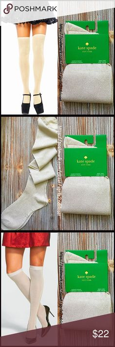 "❗️1-HOUR SALE❗️KATE SPADE TALL SPARKLE SOCKS 💟NEW WITH TAGS💟  KATE SPADE TALL SOCKS Over The Knee   * Metallic sparkle knit construction  * Stretch-to-fit style  * Banded cuffs   * Approx fits shoe sizes 6-10.5  * About 21"" long  * Lightweight for all seasons   Material: Nylon & 25% metallic fibers Color: Metallic gold Item#:  Boot socks 🚫No Trades🚫 ✅ Offers Considered*✅ *Please use the blue 'offer' button to submit an offer Kate Spade Accessories Hosiery & Socks"