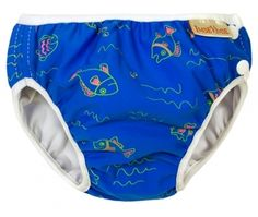 Swim Diaper, Blue with Fish