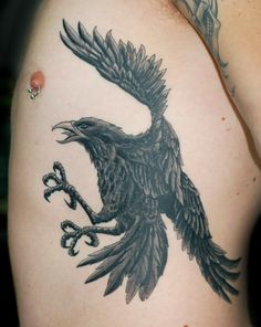 crow tattoo | Flying Crow Tattoos Fantastic flying crow tattoos