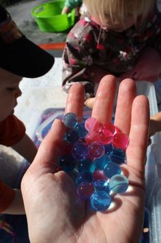 Rainbow Water Beads!  Awesome sensory fun!  (happy hooligans)