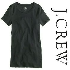 """J. Crew Perfect Fit T-shirt in Black """"A classic t-shirt in our super fine baby-rib cotton, cut a bit slimmer for a flattering fit. That's why we call it perfect."""" J. Crew brand. Size XL. Slim fit. 100% Cotton. Very soft! Short sleeve. Crew neck neckline.  Excellent excellent condition. J. Crew Tops Tees - Short Sleeve"""