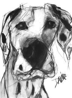 'Scooby' Open Edition Print by Valerie Davide' £35 mounted £80 Framed (Obeche Limed Wax or Matte Black Finish)