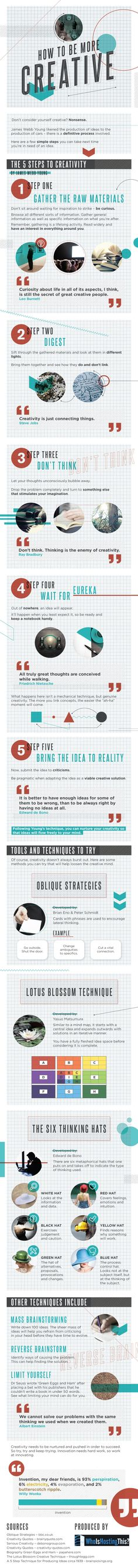 How To Be More Creative #infographic