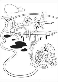 Dibujos para Colorear. Dibujos para Pintar. Dibujos para imprimir y colorear online. Aviones 60