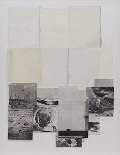 vjeranski:    Dieuwke Spaans Landscape, mixed media / collage, 137 x 109 cm   thanks toartspotting