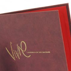 Forest Menu Covers - The Smart Marketing Group - Hospitality. Maroon and red menu Covers and displays by Smart Hospitality.