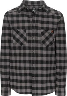 TITUS Adam, Shirt-Longsleeve, grey-checked Titus Titus Skateshop #ShirtLongsleeve #MenClothing #titus #titusskateshop