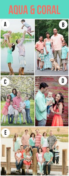 Family Photo Color Combo Ideas!  I can't decide which is my favorite.