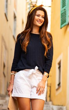 #terreetmer #nice #frenchriviera French Riviera, Pull, White Shorts, Nice, Women, Fashion, Surf And Turf, Moda, Fashion Styles
