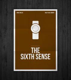 Semi-minimal movie poster of The Sixth Sense by Rubenski Gooljar