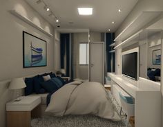 Projeto do escritório Atelier da Reforma - Render SketchUp + V_ray - Quarto do casal