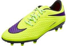 Nike Hypervenom Phelon FG Soccer Cleats - Volt and Red