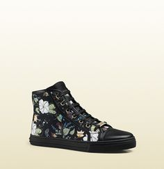 Gucci Flora Knight Print Canvas High-Top Sneaker on shopstyle.com