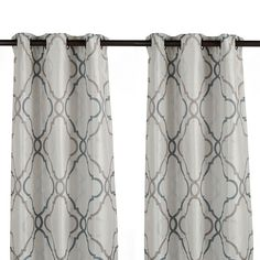 Grand Manor Gray Curtain Panel Set 108 In Home Decor
