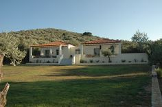 View of the building(Gera's Olive Grove ESTATE) Olive Tree, Lodges, Acre, Natural Beauty, Greece, Relax, Island, Traditional, Landscape