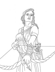 ARTEMIS the Greek goddess of hunting coloring page. Print this ARTEMIS the Greek goddess of hunting coloring page out or color in online with our new . Artemis Greek Goddess, Greek Goddess Of Wisdom, Greek Mythology Gods, Greek Gods And Goddesses, Animal Coloring Pages, Colouring Pages, Coloring Pages For Kids, Coloring Books, Colouring Sheets