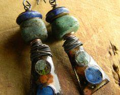 Bijoux tribal primitif Drop boucles d'oreilles par ChrysalisToo