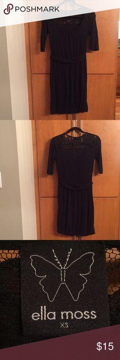 Ella moss black scoop neck dress size xs Cute scoop neck dress. Ella Moss Dresses