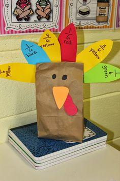 Just Reed: Thanksgiving Fun!  Fraction Turkeys