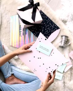 Getting x-mas gifts ready!!! #toystyle #new #giftboxes #holo #dear2017 #magic #stars #constellations #xmas #gifts