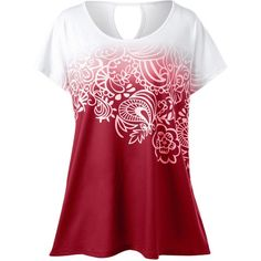 d6cdc4b10dee0 Plus Size Floral Ombre Tee ( 13) ❤ liked on Polyvore featuring tops