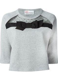 Red Valentino Sweatshirt mit Schleifenapplikation