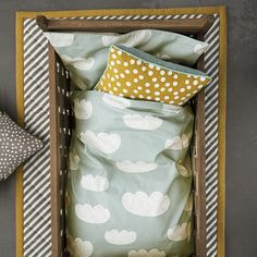 Baby Cloud Bedding in Mint design by Ferm Living