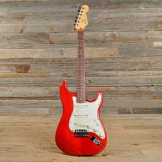 Fender American Deluxe Stratocaster Transparent Red 1999 (s346)