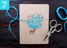 Teen Crafts Ideas and DIY Projects for Teens and Tweens - Embroider your plain notebook! 15 DIY Supplies That Will Actually Make You Excited for School Plain Notebook, Diy Notebook, Pocket Notebook, Diy Embroidery Kit, Paper Embroidery, Embroidery Patterns, Simple Embroidery, Diy School Supplies, Diy Supplies