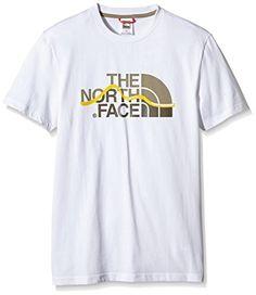 Maglietta fitness - North Face Mountain Line - Maglietta a manica corta -  uomo - colore  bianco con logo - taglia M ff7743c55d1d