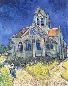 Vincent+van+Gogh+-+The+Church+at+Auvers-sur-Oise,+1890