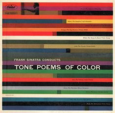 Frank Sinatra conducts Tone Poems of Color. Cover design by Saul Bass.