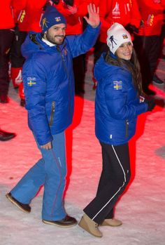 Swedish royals attend the FIS Nordic World Ski Championships at the Lugnet