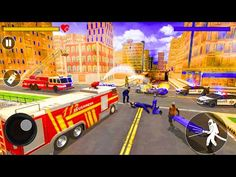 Fire Truck Driving Simulator 2021 - Rescue Truck Driving - Android Gameplay - YouTube