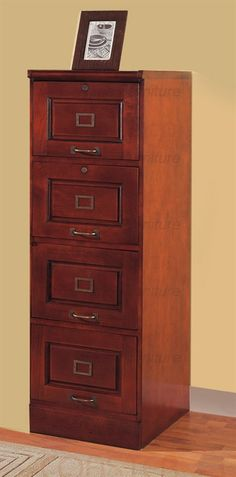 Genial 4 Drawer File Cabinet In Cherry Finish By Coaster   800314, $400