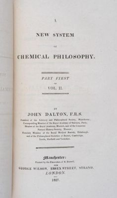 A New System of Chemical Philosophy (1808) by John Dalton