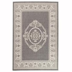 With the yellow door     Home Decorators Collection, Antique Medallion Gray and White 7 ft. 6 in. x 10 ft. 9 in. Area Rug, 0194540270 at The Home Depot - Mobile