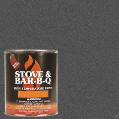 Stove Bright Ti-8142 High Temperature Brush On Paint, 1200 Degree F Operating Temperature Range, 12 Oz Aerosol, Charcoal, 2015 Amazon Top Rated High Temperature Caulk #BISS