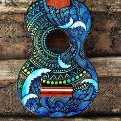 Ukelele art  - Artwork by: @salty_hippie Tag #ArtPostDaily to be featured!