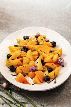 Golden Beet Salad Recipe with Blackberries