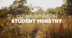 Youth Ministry Summer Schedule | YouthMin.org | Youth Ministry Resources, Encouragement, and How To's