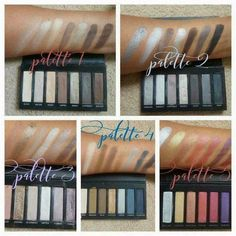 Here's swatches of all the Younique Moodstruck Addiction Shadow Palettes! Younique Eyeshadow Palette, Eyeshadow Set, Addiction Palette Younique, Natural Wedding Makeup, Natural Eye Makeup, Mascara 3d, Mascara Tips, Younique Presenter, Makeup Kit