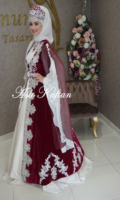 Bindallı 076 Hijab Bride, Wedding Hijab, Girl Hijab, Wedding Dresses, 50s Dresses, Indian Dresses, Fashion Dresses, Wiccan Clothing, Piercings