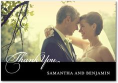 Signature White Photo Thank You Cards
