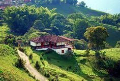 You can find numerous lovely fincas in the coffee region in Colombia. This one is located in Pereira. Take in the views and relax on the countryside. Visit Colombia, Colombia Travel, Beautiful World, Beautiful Homes, Wonderful Places, Beautiful Places, Colombian Culture, Colombia South America, Indian Village